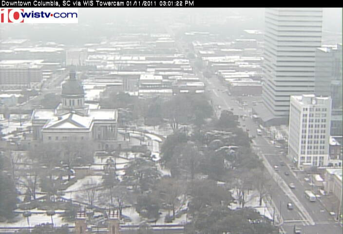 WIS TV Webcam Capture - January 2011 snowfall